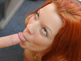 Straight outta the Suburbs - Slutty school girl wraps her mouth around some dick