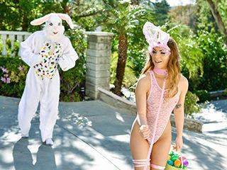 Mini Easter Bunny Babe Gets Slammed – Summer Brooks